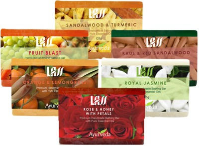 Lass Naturals 6 Soap Bars for Family