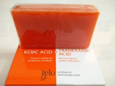 Belo Intensive Whitening Soap With Kojic Acid And Tranexamic Acid For Dark Spots