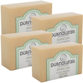 Purenaturals Hand Made Soap Ginger,Lime - 125g (Set of 4)