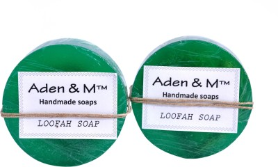 Aden & M Green Apple Loofah Soap - Pack of 2