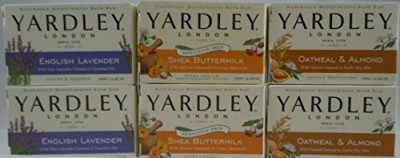 Yardley Bundle (6 Items) London Bar Soap Variety Pack (2 of Each)
