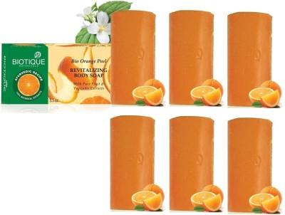 Biotique Orange Peel Soap (Set of 6)
