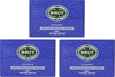 Brut Oceans Refreshing Soap ( Pack of 3 )
