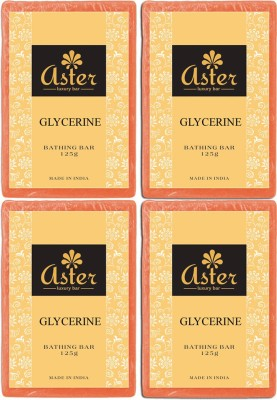 Aster Luxury Glycerin Bathing Bar - Pack of 4