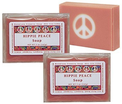 Mountain Country Soap Hippie Peace (Nag Champa) Soap - 2 Pack