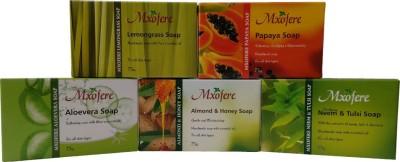 Mxofere Natural Handmade lavender papaya aloevera almond honey neem tulsi soap Kit(pack of 5)