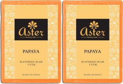 Aster Luxury Papaya Bathing Soap - Pack of 2