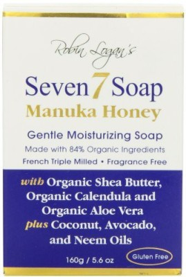 Seven 7 Organic Manuka Honey Moisturizing Soap Bar Fragrance Free
