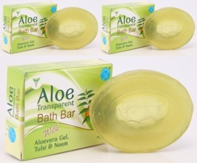 Pitrashish Aloe Transparent Bath Bar (Pack of 3)