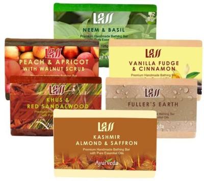 Lass Naturals Exfoliatings Soaps Pack
