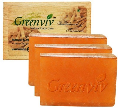 Greenviv Natural Turmeric & Sandalwood Soap
