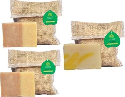 Blackseed Wellness Feel good combo pack of 3 Handmade Soap : Cinnamon with Clove 2 and Shampoo Bar : Tea tree with Eucalyyptus