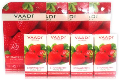 Vaadi Herbals Value Pack of 4 Strawberry Facial Bar