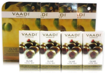 Vaadi Herbals Value Pack of 4 Olive Facial Bar