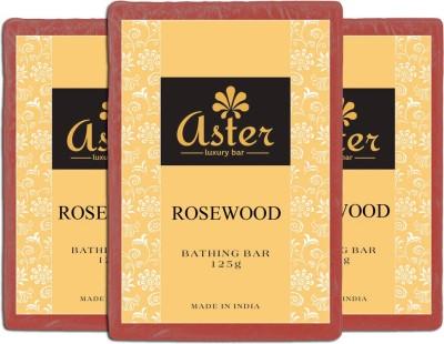 Aster Luxury Rosewood Bathing Bar - Pack of 3