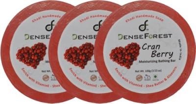 Dense Forest Khadi Cran Berry Soap (Pack of 3)