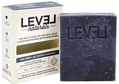 Level Naturals Bar Soap Tea Tree + Activated Charcoal(164.372 g)