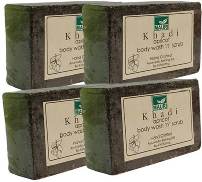 Khadimauri Apricot Soap - Pack of 4 - Premium Ayurvedic Herbal