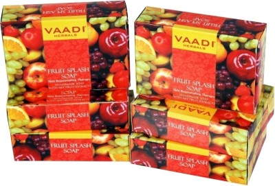 Vaadi Herbals Herbals Fruit Splash Soap with Mix Fruit Extracts - Pack of 5