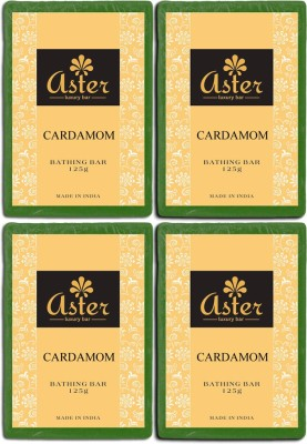 Aster Luxury Cardamom Bathing Bar - Pack of 4
