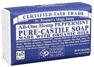 Dr Bronner Magic Soap Bar - Peppermint