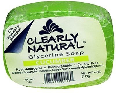 Clearly Natural Glycerin Bar Soap Cucumber