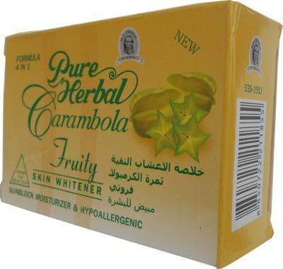 Pure Herbal Carambola Fruity Skin Whitener Sunblock Soap 4 in 1 Formula