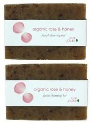 100% Pure Organic rose and Honey Facial Cleansing Bar 2 Pack