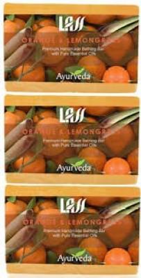 Lass Naturals Pack of 3 Lass Naturals LASS ORANGE & LEMONGRASS SOAPS