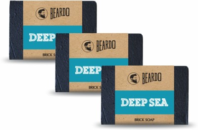 Beardo DEEP SEA Brick Soap - 125g (Set of 3)