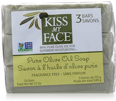 Kiss My Face Pure Olive Oil Soap Fragrance Free - 3 Bars