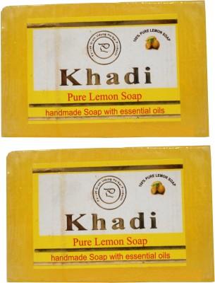 Khadi Herbal NaturalPure Lemon Soap Pack Of 2