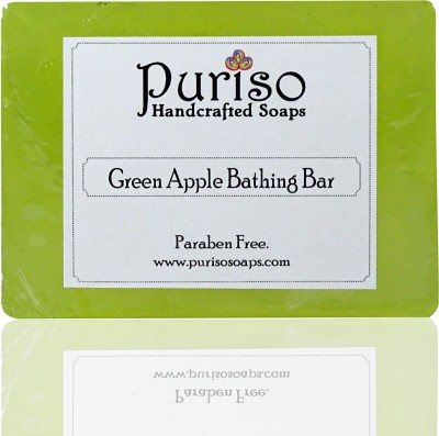 Puriso Handcrafted Soaps Green Apple Bathing Bar - Classic Series