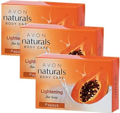 Avon Natural Papaya Bar Soap Pack of 3(100 g)