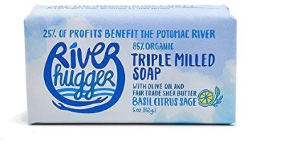 River Hugger Soap with Organic Ingredients Organic Olive Oil and Shea Butter Basil