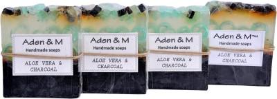 Aden & M Aloe Vera & Charcoal - Pack of 4