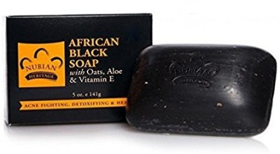 Nubian Heritage Bar Soap African Blk with Al pack of 4