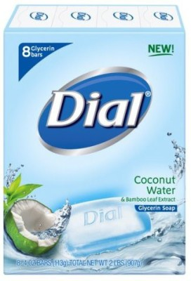 Dial Soap Bar Coconut Water Bars 8 Count