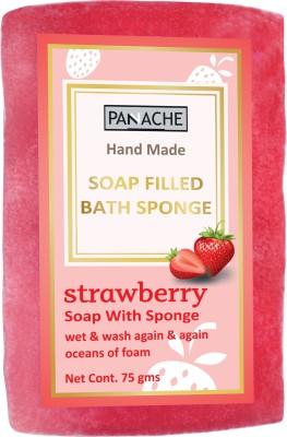PANACHE Soap Filled Bath Sponge Strawberry