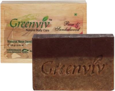 Greenviv Natural Rose Sandalwood Soap