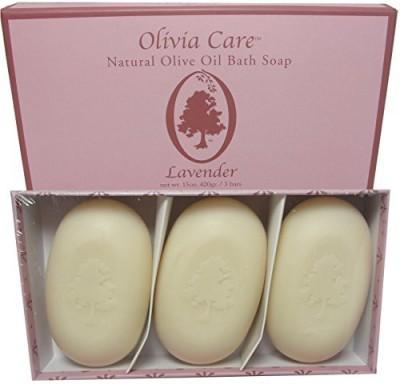 Olivia Care Natural Moisturizing Olive Oil Bath Soap - Lavender 3 pk