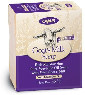 Canus Vermont Goat's Milk Bar Soap Natural Lavender