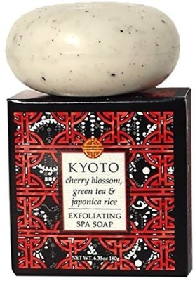 Greenwich Bay Trading Company Destination Exfoliating Spa Round Bar Soap Ea. (Kyoto-Green Tea 1 Pack)
