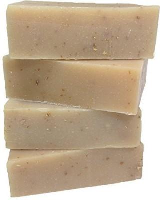 Leona Kay Premium Handmade Soap - Paraben Free - 4 Bars - Oatmeal Milk & Honey