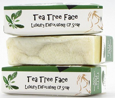 Natures Bar Handmade Luxury Tea Tree Face Exfoliating CP Soap