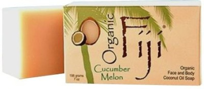 Organic Fiji Coconut Oil Soap For Face and Body 100% Certified Organic Cucumber Melon