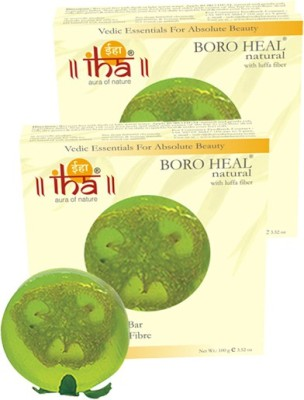 Iha Ayurvedic Footcare BORO HEAL Soap - With Scrub - Pack of 2