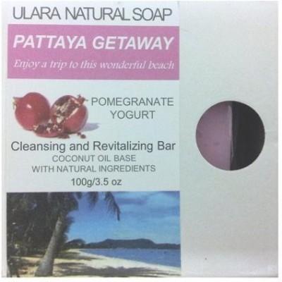Ulara Natural Soap Pomegranate Soap - Ulara Pattaya Getaway Made with Pure Coconut Oil