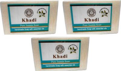 Khadi Herbal NaturalPure Jasmine Soap Pack Of 3