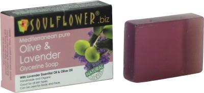 Soulflower Mediterranean Pure Olive & Lavender Glycerine Soap